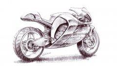 Sketch moto au stylo à bille